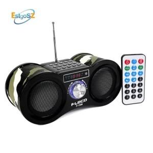 Harga fleco speaker bluetooth mini portable bass remot fm radio micro | HARGALOKA.COM