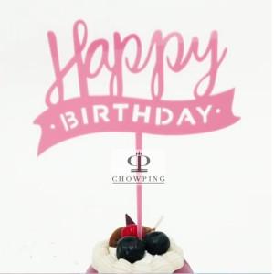 Harga Cake Topper Hiasan Kue Happy Birthday Acrylic Katalog.or.id