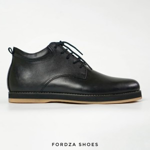 Harga sepatu pria low boots premium series plain toe leather tex 3243   hitam   HARGALOKA.COM