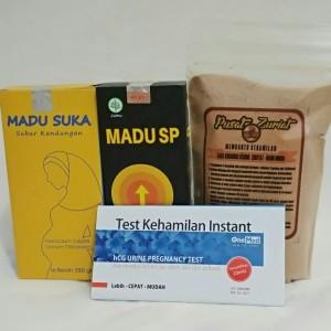 Harga paket promil madu kesuburan dan bubuk zuriat 150 gram asli | HARGALOKA.COM