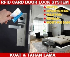 Harga access control hotel door lock rfid card kost kosan kunci | HARGALOKA.COM