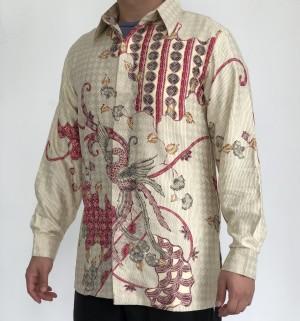 Harga ktp0319002 batik sutra putih kemeja tangan panjang premium ivory   ivory | HARGALOKA.COM