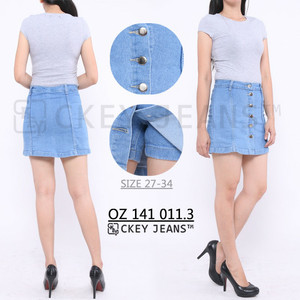Harga rok celana jeans ck 555 623 624 627   biru tua | HARGALOKA.COM