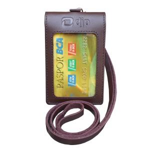 Harga id card double magnet plus tali kulit direktorat jenderal pajak   HARGALOKA.COM