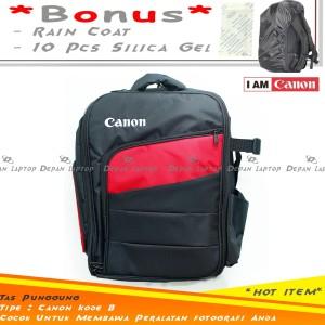 Harga tas punggung kamera canon hitam dslr mirrorless flash lensa murah | HARGALOKA.COM