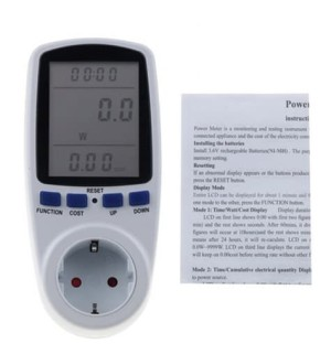 Harga ac watt kwh energy meter voltmeter ukur daya listrik tagihan pln | HARGALOKA.COM