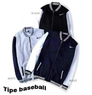 Harga jaket baseball varsity nike pria wanita jumbo   navy   HARGALOKA.COM