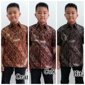 Harga kemeja anak 265 batik hem atasan seragam keluarga charita couple model   2 tahun cokelat | HARGALOKA.COM