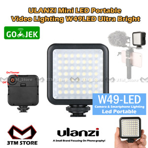 Harga ulanzi w49 led portable video lighting lampu studio foto dslr | HARGALOKA.COM
