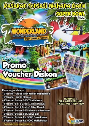 Harga voucher diskon tiket masuk wonderland adventure waterpark   HARGALOKA.COM