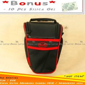 Harga tas selempang kecil canon logo eos murah cocok untuk kamera | HARGALOKA.COM