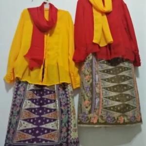 Harga baju adat betawi anak pr   pakaian none jakarta   merah | HARGALOKA.COM