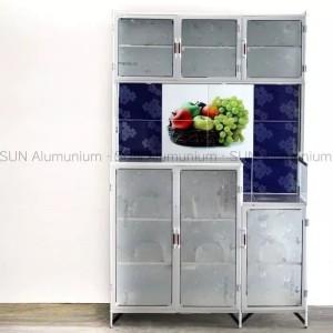 Harga rak piring kaca rak piring alumunium lemari piring pintu | HARGALOKA.COM