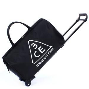 Harga tas koper duffel trolley model 3 concept eyes   black   HARGALOKA.COM