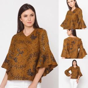 Harga wela sogan t0148 baju blouse atasan batik wanita modern nona rara   sesuai gambar | HARGALOKA.COM