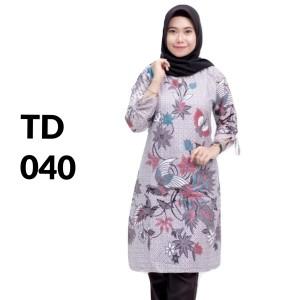 Harga tunik atasan batik solo batik kantor baju batik wanita td 040   | HARGALOKA.COM