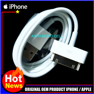 Harga kabel data iphone 4 4s 4g 4c 3gs ipad 1 2 3 ipod apple original | HARGALOKA.COM