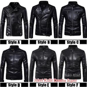 Harga jaket kulit motor pria terbaru jaket kulit domba super asli garut   hitam   HARGALOKA.COM