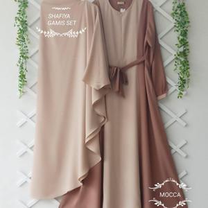 Harga gamis syari shafiya syar 39 i baju muslim wanita satu set   | HARGALOKA.COM