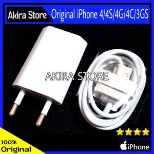 Harga charger iphone 4 4s 4g 4c 3gs ipod original 100 | HARGALOKA.COM
