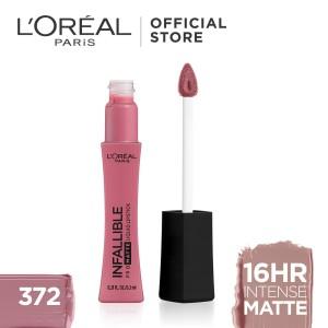 Harga l 39 oreal lipstik matte infallible pro matte liquid lip 372 petal | HARGALOKA.COM