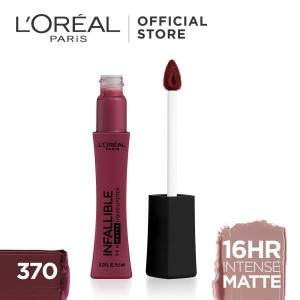 Harga l 39 oreal lipstik matte infallible pro matte liquid lip 370 | HARGALOKA.COM