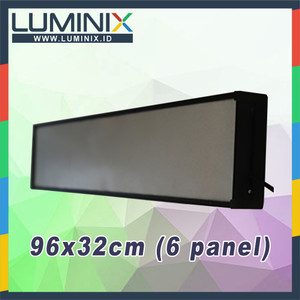 Harga paket diy box casing frame running text 96cm x 32cm 6 panel | HARGALOKA.COM