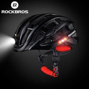 Harga rockbros helm sepeda lampu led light waterproof bike helmet zn1001     HARGALOKA.COM