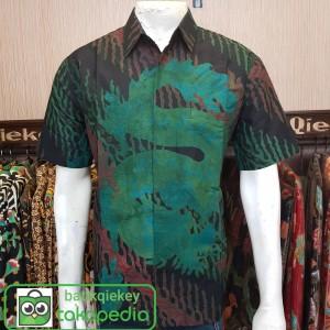 Harga baju kemeja batik pria batik tulis lukis lengan pendek motif f terbaru   sesuai gambar | HARGALOKA.COM