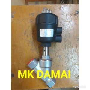 Harga angel seat valve 1 2 34 inch piston valve pn25 dn15 ss316 double | HARGALOKA.COM