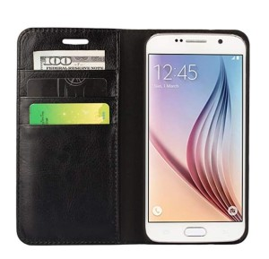 Harga samsung galaxy s6 edge flip cover wallet leather case classic style   | HARGALOKA.COM