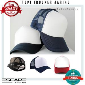 Harga topi trucker jaring polos distro premium | HARGALOKA.COM