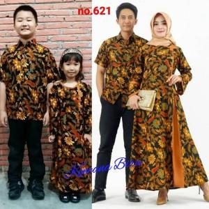 Harga 621 couple batik keluarga dewasa m xl anak 2 12 thn   cokelat ank laki | HARGALOKA.COM
