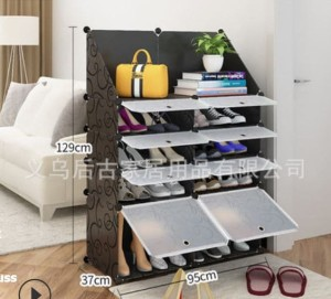 Harga magic wardrobe rak sepatu serbaguna plastik diy 8 ruang rak diy 013   white | HARGALOKA.COM