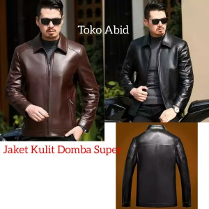 Harga jaket kulit domba super asli garut jaket motor trendy   hitam   HARGALOKA.COM