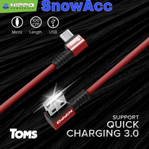 Harga toms hippo kabel data micro usb android kabel gamer quick charging     HARGALOKA.COM