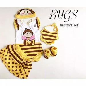 Harga bugs jumper set jumper bayi perempuan lucu murah baju | HARGALOKA.COM