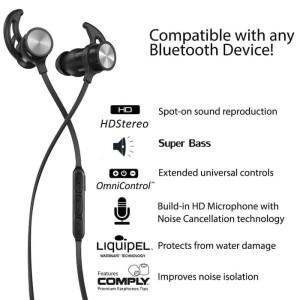 Harga headset bluetooth sports handsfree earphone metal solid magnet sls | HARGALOKA.COM