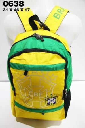 Harga tas ransel bola cowok import brazil 0638 kuning tas sekolah | HARGALOKA.COM
