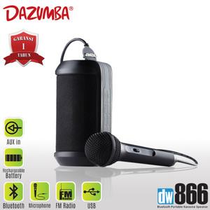 Harga dazumba dw866 portable karaoke speaker bluetooth   | HARGALOKA.COM