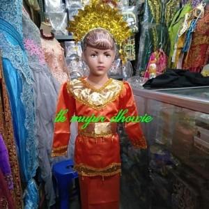 Harga baju padang anak baju adat padang sunting baju adat minang   merah | HARGALOKA.COM
