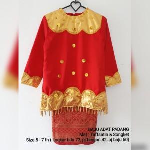 Harga baju pakaian adat padang anak perempuan sumbar kartini   6 7   HARGALOKA.COM