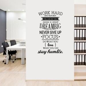 Harga wallsticker stiker dinding kata bijak quotes work hard stay | HARGALOKA.COM
