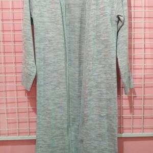 Harga atasan wanita cardigan panjang rajut tebal jaket hitam merah abu   | HARGALOKA.COM