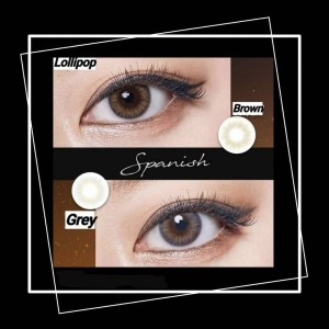 Harga softlens spanish lollipop idol korea blackpink free lens case capitan   brown | HARGALOKA.COM