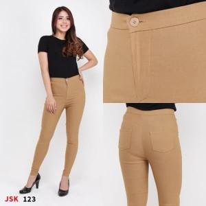 Harga celana panjang highwaist jeans wanita model pensil skinny jeans cewek   hitam   HARGALOKA.COM