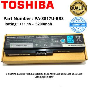 Harga baterai toshiba satellite original pa3817u l740 c640 l740 l745 | HARGALOKA.COM