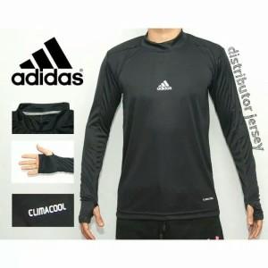Harga baju manset panjang nike adidas kaos bola panjang manset bola pria   hitam fit | HARGALOKA.COM