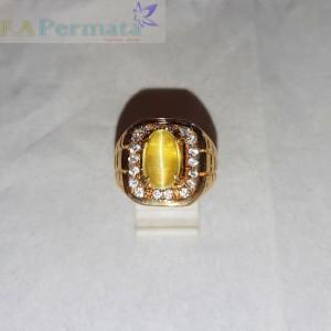 Harga natural opal cat eye dengan cincin pria alpaka | HARGALOKA.COM