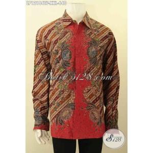 Harga kemeja batik resmi pria gemuk panjang tulis lasem size xxl | HARGALOKA.COM